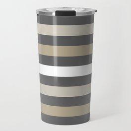 Neutral colors lines Travel Mug
