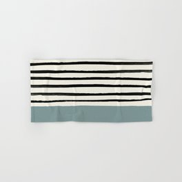 River Stone & Stripes Hand & Bath Towel