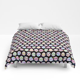 Day of the Dead Sugar Skulls Comforters