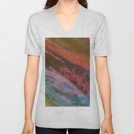 Vetas de colores // Colored streaks Unisex V-Neck