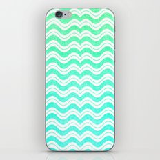 Aqua Mint Green Waves Chevron Abstract Pattern iPhone & iPod Skin