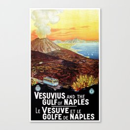 Vesuvius and the Gulf of Naples Canvas Print