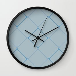 Blue Lattice  Wall Clock