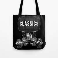 gaming Tote Bags featuring Classic Gaming by A Strom