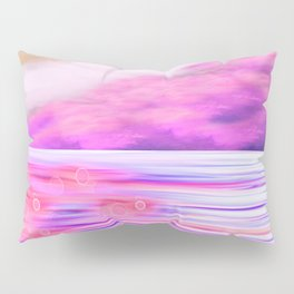 ABSTRACT OCEAN PINK HORIZON Pillow Sham