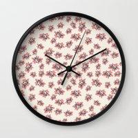 abigail larson Wall Clocks featuring Abigail 2 by Teri Martin