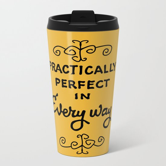 Practically perfect in every way mary poppins measuring tape..  Metal Travel Mug