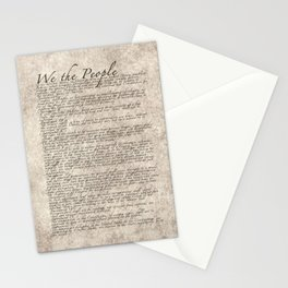 United States Bill of Rights (US Constitution) Stationery Cards