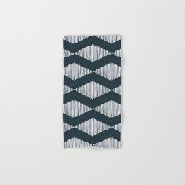 Acoustic Wave Navy Hand & Bath Towel