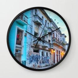 Havana Streets 2 Wall Clock