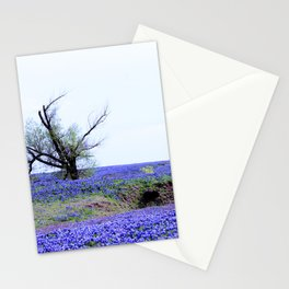 Lonely Tree & Bluebonnets Stationery Cards