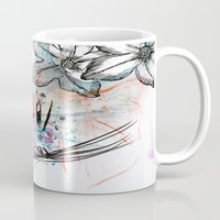 anime Mugs featuring Anime 3  by Del Vecchio Art by Aureo Del Vecchio