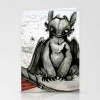 toothless Stationery Cards featuring Toothless by artbyteesa