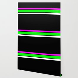 Team Colors 2....neon green and pink stripes Wallpaper