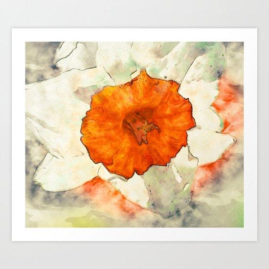 Giant Daffodil Art Print