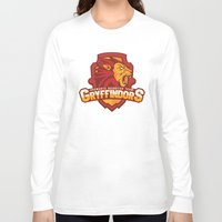 quidditch Long Sleeve T-shirts featuring Hogwarts Quidditch Teams - Gryffindor by Deadround