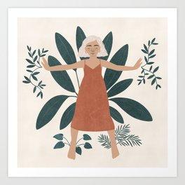 green goddess Art Print