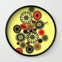 Black/Red Pattern Wall Clock