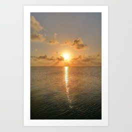 San Pedro Sunset Art Print