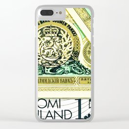 Banknote 8 Clear iPhone Case
