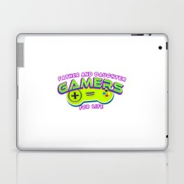 Father and Daughter Gamers For Life Laptop & iPad Skin
