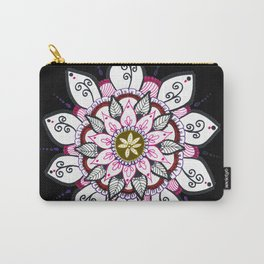 Colourful Flower Mandala Carry-All Pouch