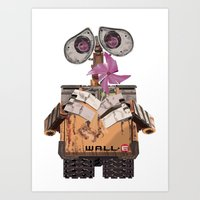 wall e Art Prints featuring Wall-e by storyofgokce