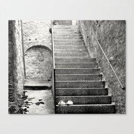 Italian street stairs Canvas Print