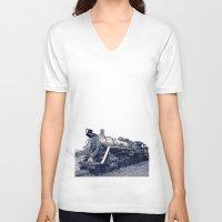 train V-neck T-shirts featuring Train by Jaramillo Velez
