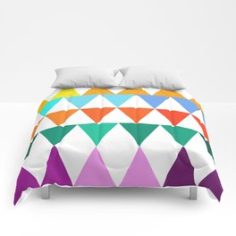 Triangles of Color Comforters