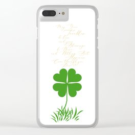 May your troubles be less Clear iPhone Case