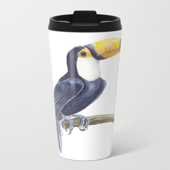 Toucan, tropical bird Metal Travel Mug
