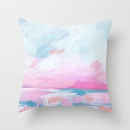 Euphoria - Bright Ocean Seascape Throw Pillow