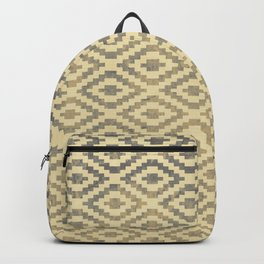 Geomteric pattern design, blicks sytle with a grunge background texture Backpack