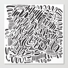 SQUIGGLY WIGGLY Canvas Print