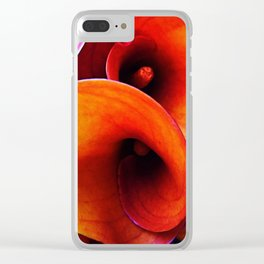 Orange Calla Lillies Clear iPhone Case