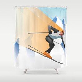 SKIING Shower Curtain
