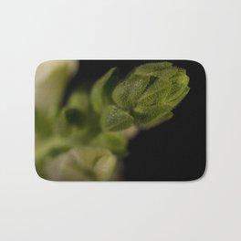 Tip of Snapdragon on Black Botanical / Nature / Floral Photograph Bath Mat