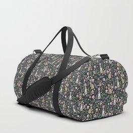 Cute rabbits (dark blue) Duffle Bag