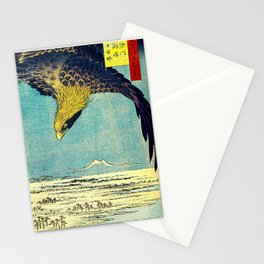 Hiroshige, Hawk Flight Over Field Stationery Cards