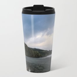 Black beach - New Zealand Travel Mug