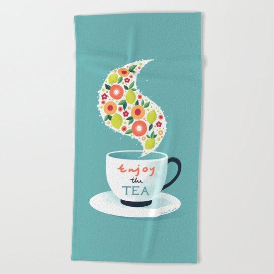 Enjoy the Tea Beach Towel