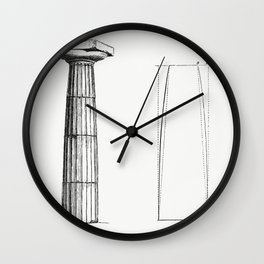 Column Design (1862) from Gazette Des Beaux-Arts a French art review Wall Clock