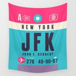 Baggage Tag A - JFK New York Wall Tapestry
