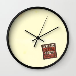 Misbehave Spaghetti Western Wall Clock