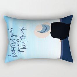 [Quotes] Beautiful Girl Rectangular Pillow