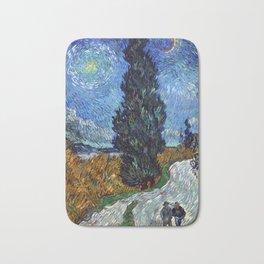 Vincent van Gogh - Road with Cypress and Star Bath Mat