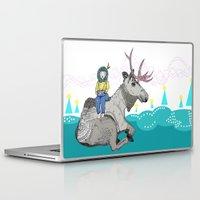 elk Laptop & iPad Skins featuring Elk by Anne Augenblick