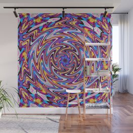 Psychedelic flower drawing Wall Mural