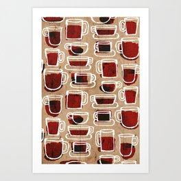 morning pattern Art Print
